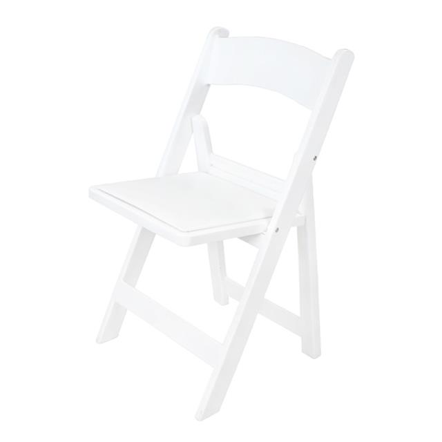 Where to find WHITE PLASTIC PADDED CHAIR in Miami