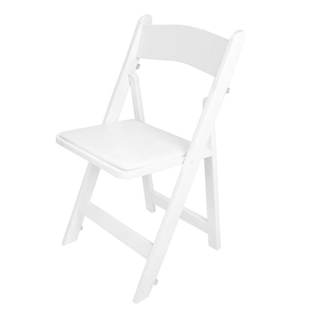 Where to find CHAIR WOOD FOLDING WHITE W  PAD in Miami