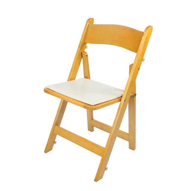 Where to find CHAIR WOOD FOLDING NATURAL W PAD in Miami