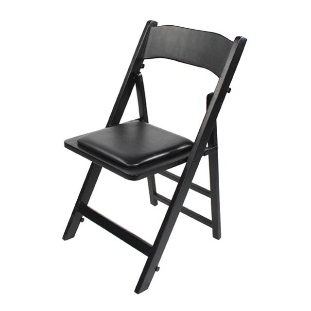 Where to find BLACK WOOD FOLDING CHAIR W  PAD in Miami