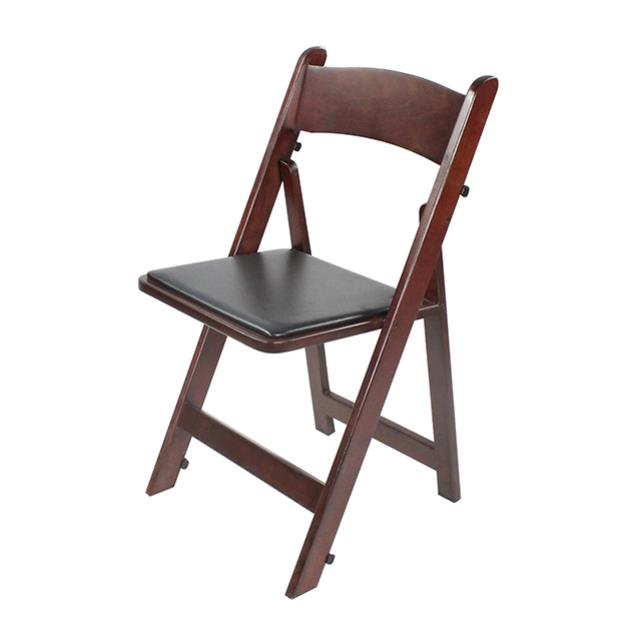 Where to find CHAIR WOOD FOLDING MAHOGANY W  PAD in Miami