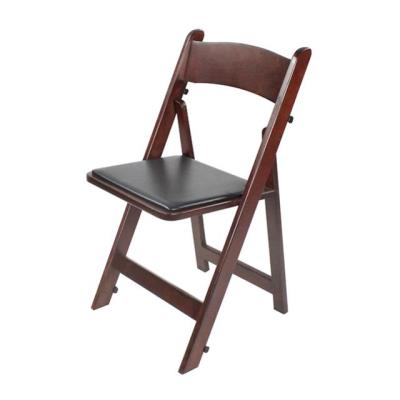 Rental store for MAHOGANY WOOD FOLDING CHAIR W  PAD in Miami FL