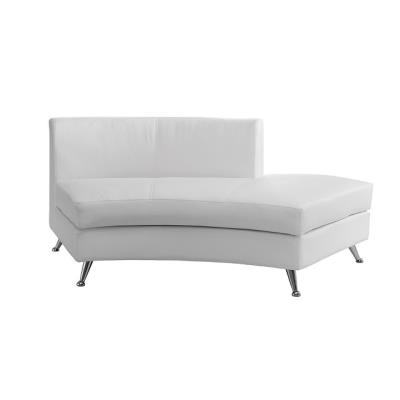 Rental store for CURVED WHITE OPENBACK CHAISE in Miami FL