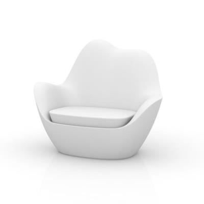 Rental store for SABINAS LOUNGE CHAIR WHITE W CUSHION in Miami FL