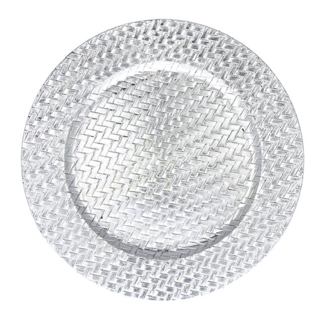 Where to find SILVER BASKETWEAVE LAC. CHARGER PLATE in Miami