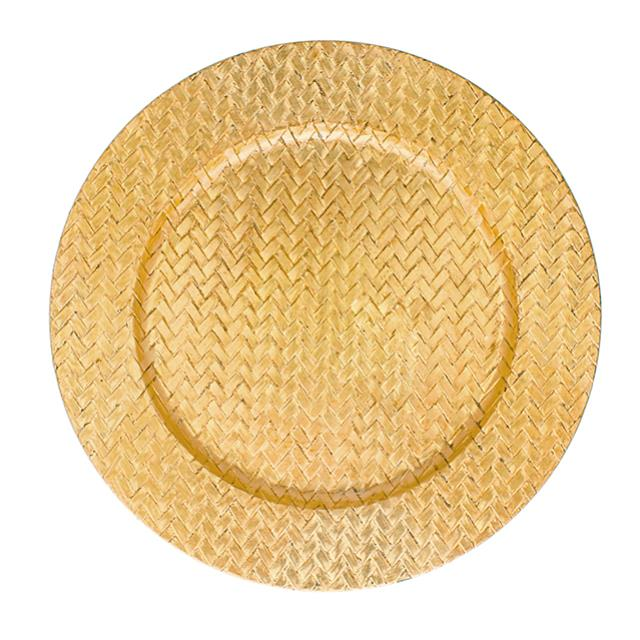 Where to find GOLD BASKETWEAVE LAC. CHARGER PLATE in Miami