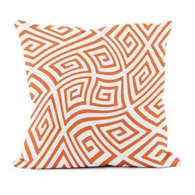 Rental store for PILLOW-GEOMETRIC ORANGE WHITE in Miami FL
