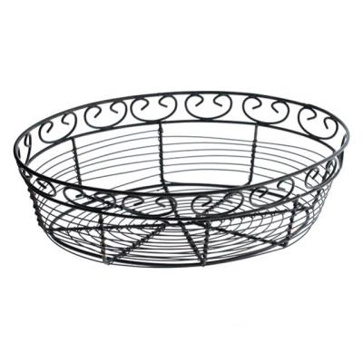 Rental store for BREAD FRUIT BASKET, WIRE BLACK OVAL in Miami FL