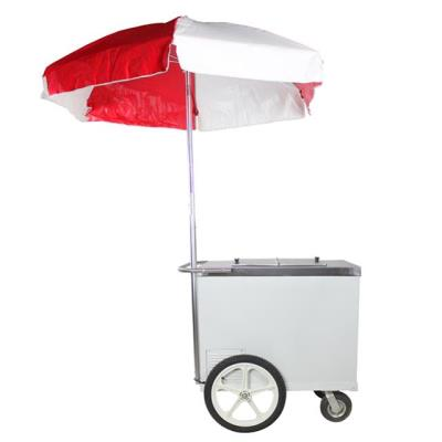 Rental store for ICE CREAM PUSH CART W  RED WH UMBRELLA in Miami FL