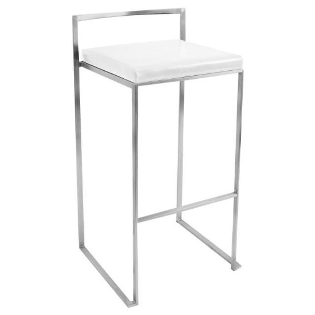 Where to find KIT-FUJI S S BARSTOOL W WHITE SEAT in Miami