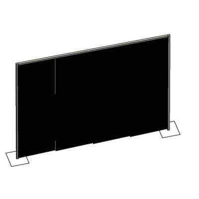Rental store for PIPE   DRAPE WALL- BLACK 8  HIGH in Miami FL