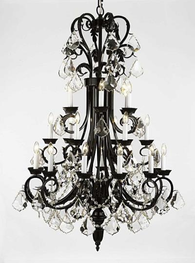 Rental store for CHANDELIER LG-BLK W CRYSTALS in Miami FL