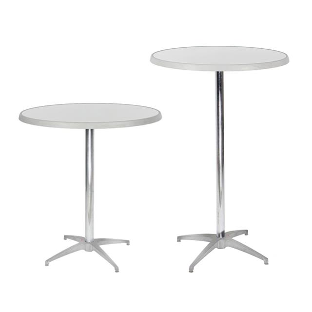 Where to find BRUSHED METAL PEDESTAL TABLE in Miami