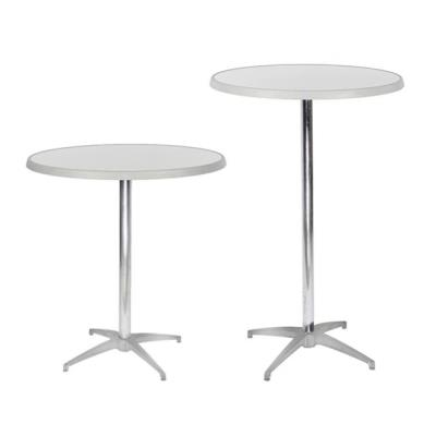 Rental store for BRUSHED METAL PEDESTAL TABLE in Miami FL