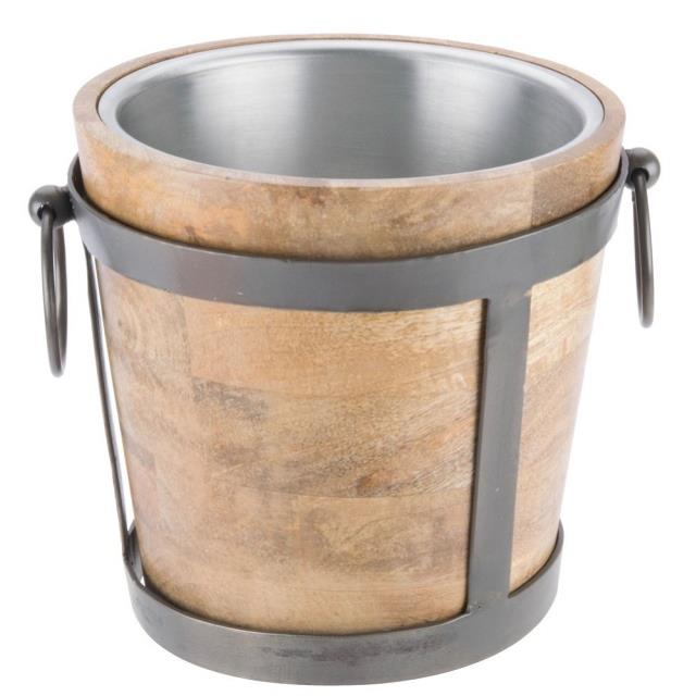 Where to find WINE BUCKET-WOOD 128 oz. in Miami