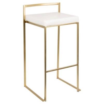 Rental store for FUJI GOLD BARSTOOL W WHITE SEAT in Miami FL