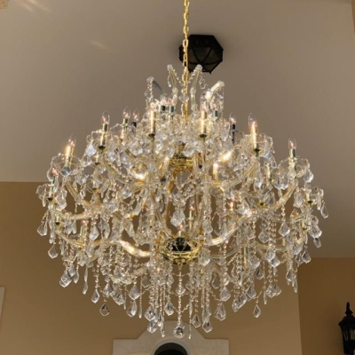 Rental store for CHANDELIER-CRYSTAL GOLD 44H44W in Miami FL