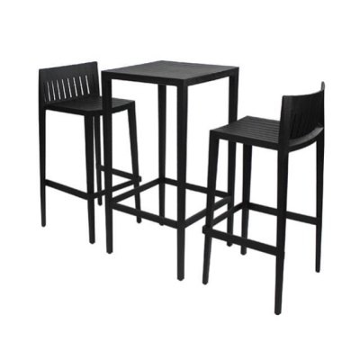 Rental store for SPRITZ SET-1 BAR TABLE 2 BARSTOOL-BLACK in Miami FL