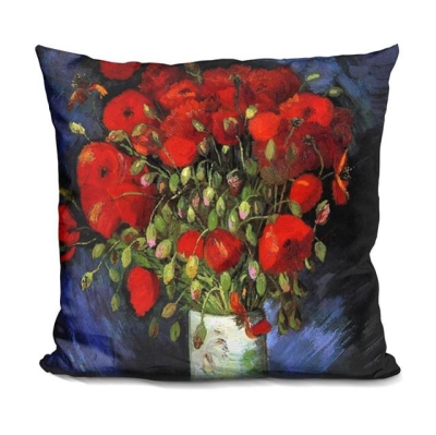 Rental store for PILLOW-VAN GOGH-VASE W RED POPPIES in Miami FL
