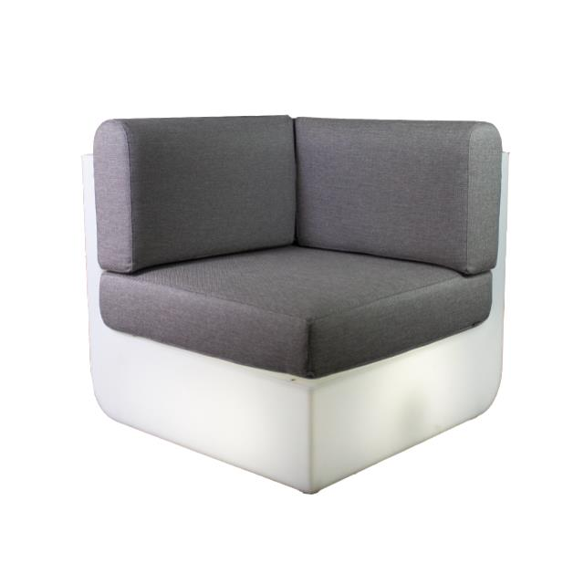 Where to find ULM CHAIR CORNER-RGBW LED W TAUPE CUSH in Miami