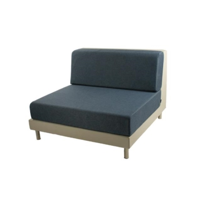 Rental store for PIXEL ARMLESS ECRU W NAVY CUSHION in Miami FL