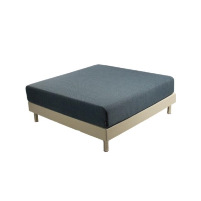Rental store for PIXEL OTTOMAN ECRU W NAVY CUSHION in Miami FL